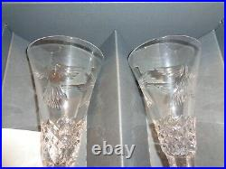 10 Flute Set Waterford Crystal Millennium Collection Toast of the Year 2000