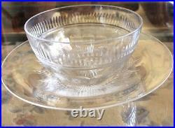 12 Pieces Webb Corbett Crystal Glass Finger 6 Set Of Bowls & Under plates Signed