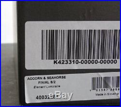 2 WATERFORD LAMP FINIALS set / SEAHORSE & ACORN (crystal) NEW / Box SALE