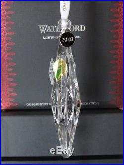 2018 Nib Waterford Set Of 3 Icicle Christmas Ornaments #40031796