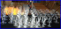 36 piece crystal glassware set Lenox Kingsley by Tiffin-Franciscan
