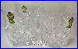 4 Brilliant Cut Waterford Crystal ASHLING Old Fashioned Rock Glass Set FREEUSHIP