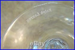 4 RALPH LAUREN Glen Plaid Heavy Crystal 8 fl oz Fluted Champagne Glass Set