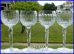 4 Waterford Crystal Colleen 7 1/2 Hock Wine Goblets Set #2