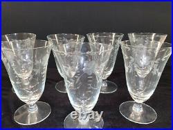 45 Piece Set of Vintage Etched Crystal Stemware