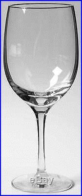 $480 NEW Lenox Fine Crystal Iced Tea Glass Solitaire Platinum Rim set of 12 wine