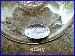6 Rogaska Gallia crystal Ice Tea Glasses 6 in the set New Old Stock