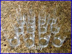 $716. NEW 64 Pc Set SCHOTT ZWIESEL Tritan Paris Crystal Titanium Barware Glasses