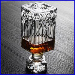 7pcs Crystal Glassware Wine Cup Wine Sets Whiskey Mug Cup Decanter Wine Bottle