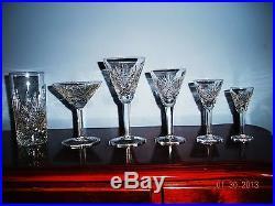 89 Pc. Cut Glass-crystal Stemware Set-highball-martini / Champagne-liquor
