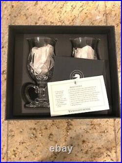 AUTHENTIC WATERFORD CRYSTAL Lismore Set of 5 Irish Coffee Mugs With Original Box