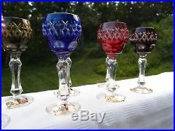 Anna Hutte vintage cordial wine glasses goblets handcut bleikristall, set of 12