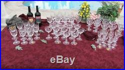 Antique 1960's TIFFIN SOVEREIGN Crystal Stemware Glass set 60 Pc Beautiful