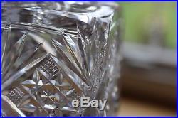 Antique American Brilliant Dorflinger Tantalus Set Marlboro Crystal Decanters