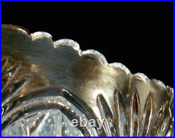 Antique EAPG Clear Crystal Gold Trim Sheaf Of Wheat & Button Star 4pc Table Set