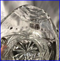 Antique HOBSTAR PINWHEEL American Brilliant ABP Crystal Set PITCHER + 6 GLASSES