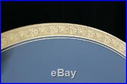 Antique Set 12 Tiffin Glass Minton Gold Rim Charger Service Presentation Plates