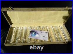 Antique Vintage Cristal Crystal Knife Rests Set 12 w Box 24% PBO Lead