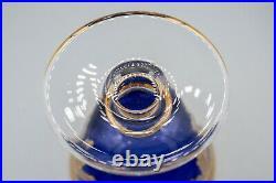 Arte Italica Cobalt Blue Footed Dessert Bowl 4 3/4 H Set of 4 FREE USA SHIPPING