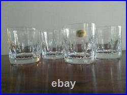 Atlantis Crystal Old Fashioned Glasses Never Used set of 4