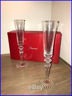 BACCARAT Crystal Champagne Mille Nuits Flutissimo, Set of 2 Flutes