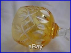 BACCARAT, St LOUIS, VAL St LAMBERT CUT CRYSTAL LIQUOR GLASSES, SET OF 6