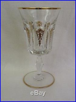 Baccarat Crystal Gold Venise Goblets Set Of 6