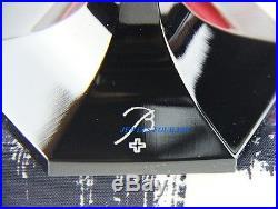 Baccarat Harcourt Darkside Flute Set Of Four Black & White Crystal New France