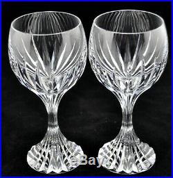 Baccarat Massena Wine Glasses Set of 2