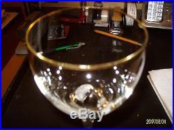 Beautiful Set of 9 Gorham Crystal Joy Gold 8 Tall Wine Glasses