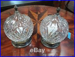 Beautiful Vintage Waterford Crystal Flush Mount Ceiling Light Set Of 2