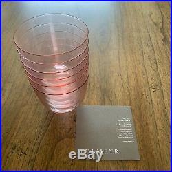 Brand New Lobmeyr'Alpha' Crystal Water Glasses, Rosalin color, set of 6