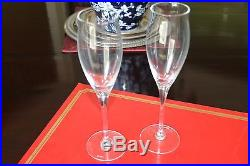 Cartier Crystal Tulip-flared Champagne Flutes - Set Of Four