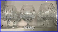CARTIER LA MAISON DU SHOGUN Crystal Glasses Set Of 6 Brandy Snifters