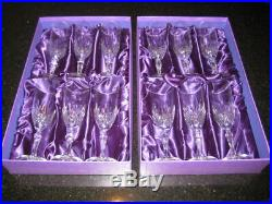 Capri Tuscan Crystal Chamage Flutes (Set of 12) Designed & Crafted In Italia