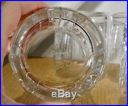 Cartier Double Old Fashioned La Maison Crystal Glasses set of 4