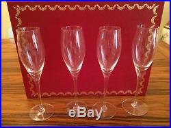 Cartier Vintage Crystal Champagne Flute Set of 4