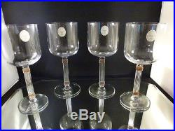 Christian Dior GAUDRON GOLD WATER Glass BRAND NEW NEVER USED SET 4