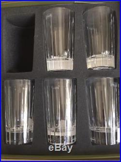 Christofle Iriana Crystal High Ball Glasses Set of 5 Cocktail