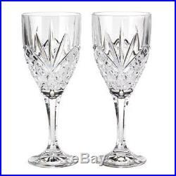 Crystal 12 Wine Goblet Set Glass Drink Ware Formal Dining Starburst Design New