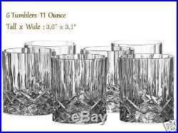 Crystal Glass Liquor Whiskey Decanter Set 6 Tumblers Bottle Wine Stopper Scotch