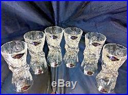 Crystal Glasses Whiskey Vodka Set Decanter 15oz and 6 Shot Glass 2 oz Bohemian