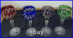Cut To Clear Wine Hock Crystal Legends By Godiner Dynasty Pattern Set of Four