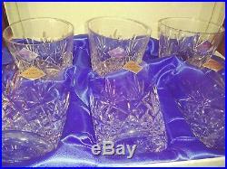 EDINBURGH crystal STAR OF EDINBURGH Whiskey Flared Tumbler 4'' Tall set of 6
