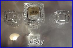 EXCELLENT Waterford Crystal CLARION (2002-) Decanter & 2 Old Fashioned Bar Set