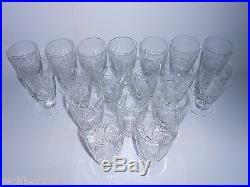 Ebeling & Reuss Set of 18 CUT CRYSTAL Bellevue Iced Tea Glasses