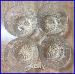 Edinburgh Crystal Brodick Scotland Liquor Decanter Set, 4 Glasses, RARE Bin A20
