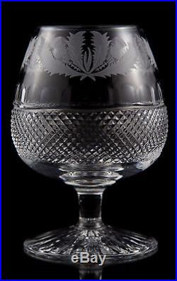 Edinburgh Crystal Thistle Brandy Snifter Glasses, Set of (2)