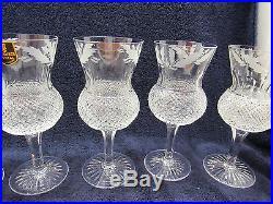 Edinburgh Crystal Thistle Cut Extra Tall Water Goblet 7 1/4 (set of six)