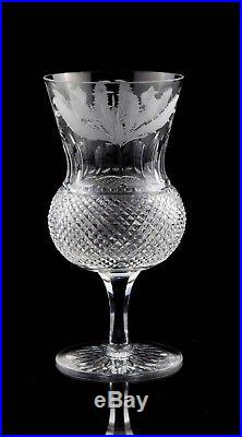 Edinburgh Crystal Thistle Cut Water Goblet Glasses, Set of (6), Multiple Sets